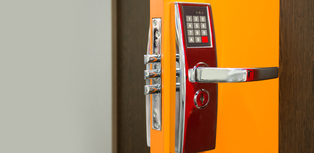 Security cylinder lock with keypad entry system